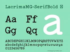LacrimaMG-SerifBold