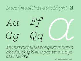 LacrimaMG-ItalicLight