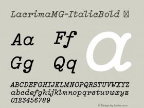 LacrimaMG-ItalicBold