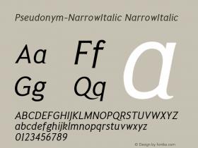 Pseudonym-NarrowItalic
