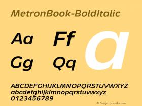 MetronBook-BoldItalic