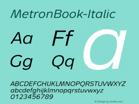 MetronBook-Italic