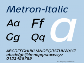 Metron-Italic