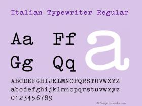 Italian Typewriter