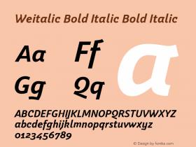 Weitalic Bold Italic
