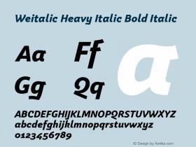 Weitalic Heavy Italic