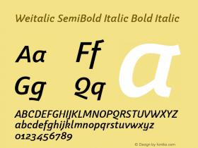 Weitalic SemiBold Italic