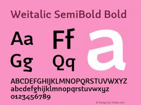 Weitalic SemiBold