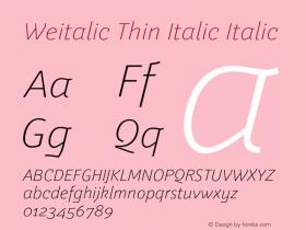 Weitalic Thin Italic