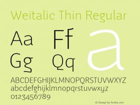 Weitalic Thin