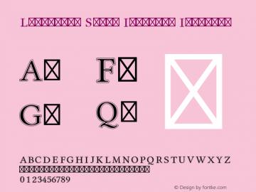 Libertine Serif Initials