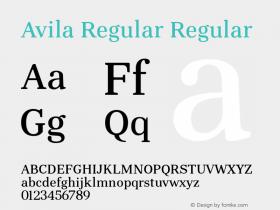 Avila Regular