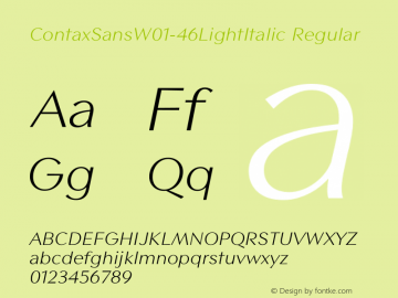 ContaxSans-46LightItalic