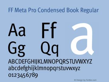 FF Meta Pro Condensed Book