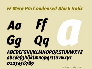 FF Meta Pro Condensed Black