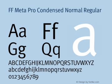 FF Meta Pro Condensed Normal