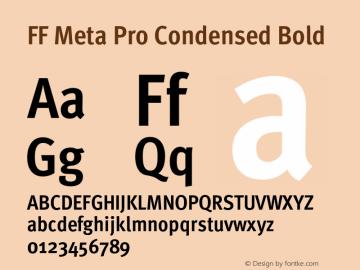 FF Meta Pro Condensed