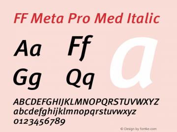 FF Meta Pro Med