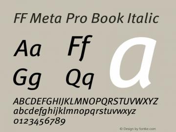 FF Meta Pro Book