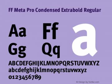 FF Meta Pro Condensed Extrabold