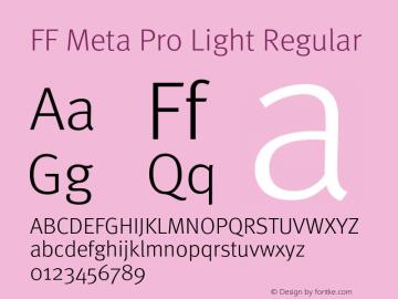 FF Meta Pro Light