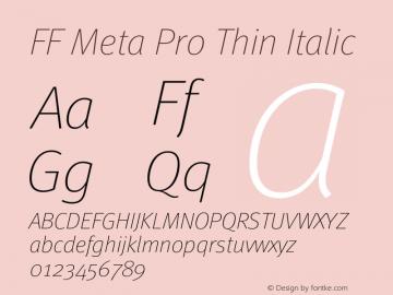 FF Meta Pro Thin