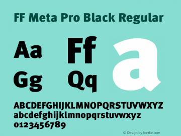 FF Meta Pro Black