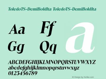 ToledoTS-DemiBoldIta