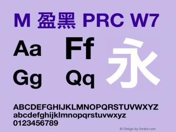 M 盈黑 PRC