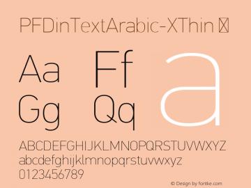 PFDinTextArabic-XThin