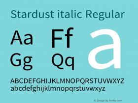 Stardust italic