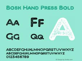 Bosk Hand Press