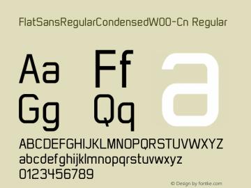 FlatSansRegularCondensed-Cn