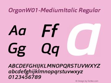 Orgon-MediumItalic