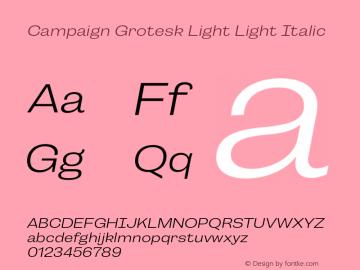 Campaign Grotesk Light