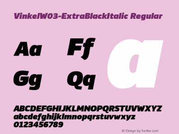 Vinkel-ExtraBlackItalic