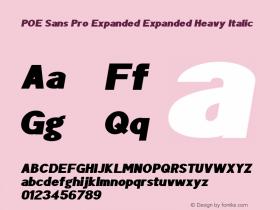 POE Sans Pro Expanded