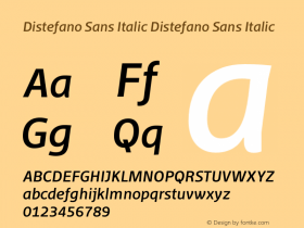 Distefano Sans Italic
