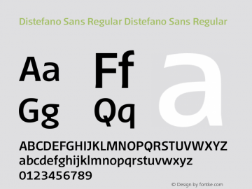 Distefano Sans Regular