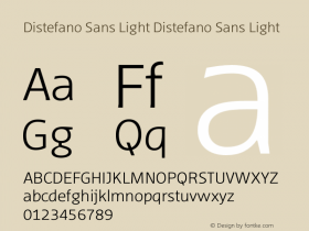 Distefano Sans Light