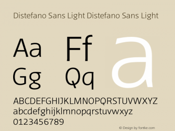 Distefano Sans Light