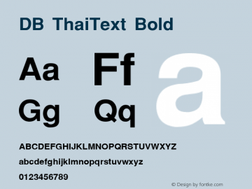 DB ThaiText