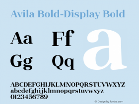 Avila Bold-Display