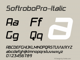 SoftroboPro-Italic