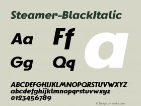 Steamer-BlackItalic