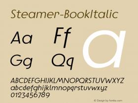 Steamer-BookItalic