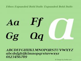Ethos Expanded Bold Italic