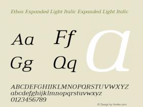 Ethos Expanded Light Italic