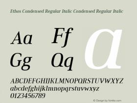 Ethos Condensed Regular Italic