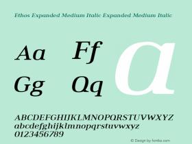 Ethos Expanded Medium Italic